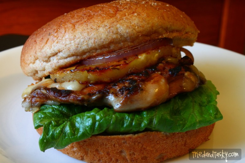 Grilled Chicken and Pineapple Sandwich