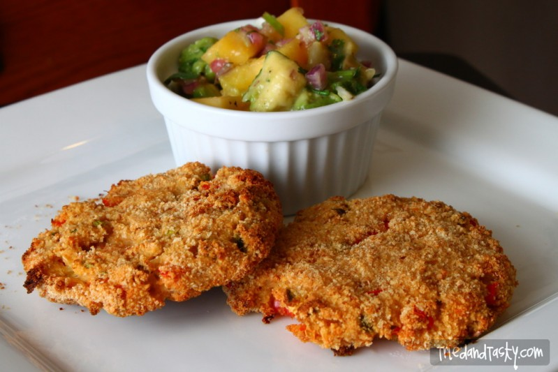 Crab Cakes with Mango-Avocado Salsa - Tried and Tasty