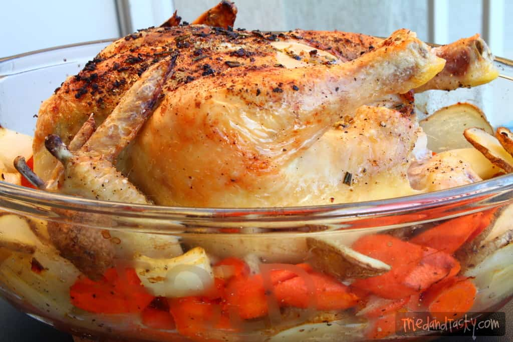 Herb Roasted Chicken and Vegetables - Tried and Tasty
