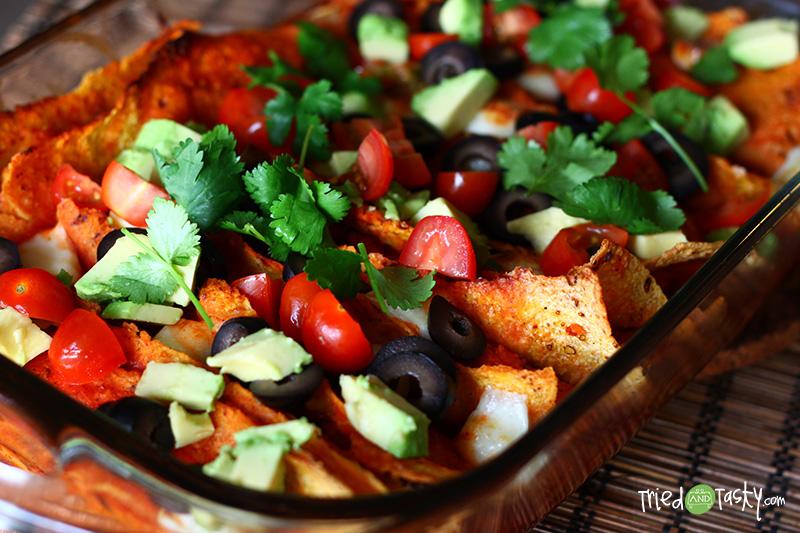 Sweet Potato & Black Bean Enchiladas - Tried and Tasty