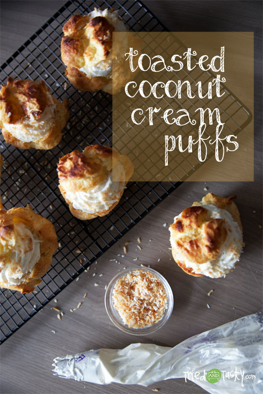 Toasted Coconut Cream Puffs // TriedandTasty