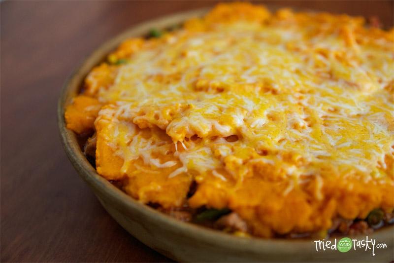 Healthy Sweet Potato Shepherds Pie // TriedandTasty