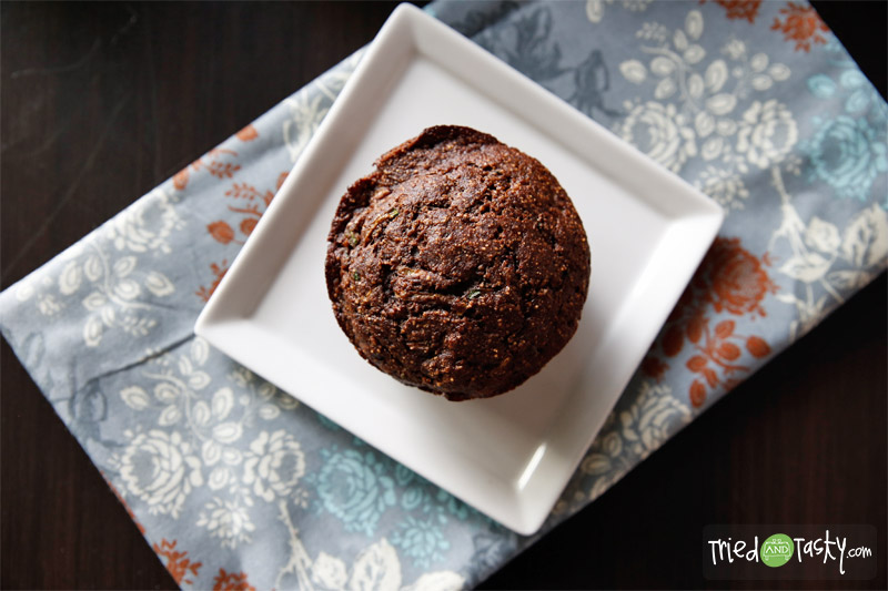 Healthy Chocolate Zucchini Muffins // TriedandTasty