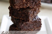 Whole Wheat Zucchini Chocolate Chip Brownies // TriedandTasty