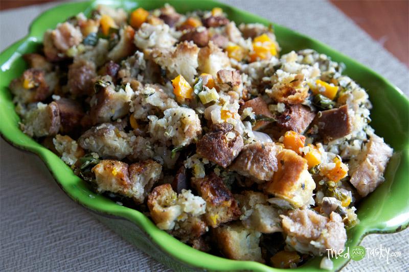 Butternut Squash | Quinoa | Kale Stuffing Recipe // TriedandTasty
