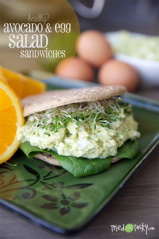 Healthy Avocado & Egg Salad Sandwiches - Tried and Tasty