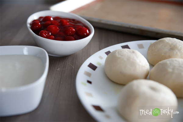 Rhodes Cherry Kolachy Rolls // Tried and Tasty