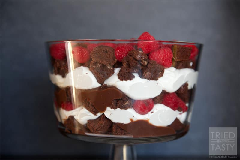 Raspberry Brownie Trifle Recipe // Tried and Tasty