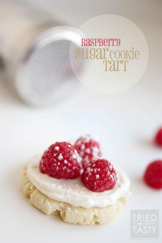 Raspberry Sugar Cookie Tart // Tried and Tasty