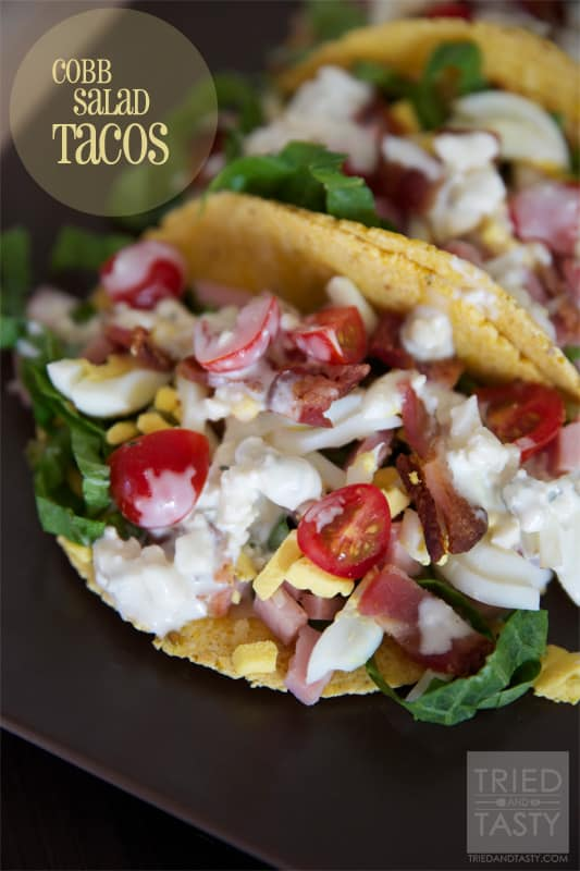 Cobb Salad Tacos // Tried and Tasty