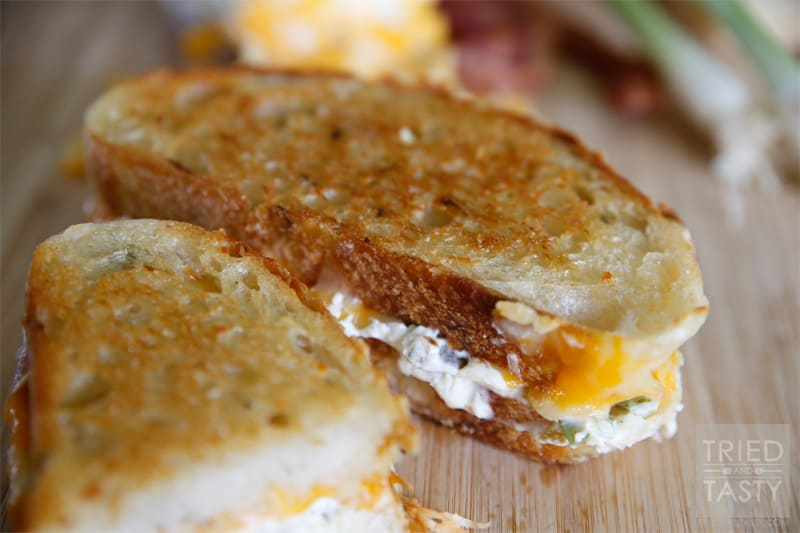 Jalapeno Popper Grilled Cheese Sandwich // Tried and Tasty