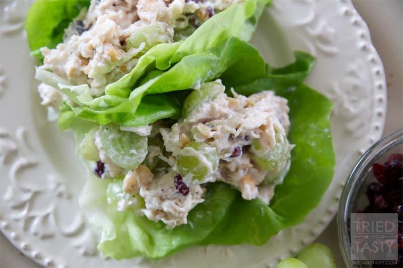 Healthy Cashew Chicken Salad Lettuce Wraps