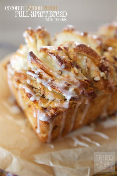 Coconut Lemon Pecan Pull Apart Bread // Tried and Tasty