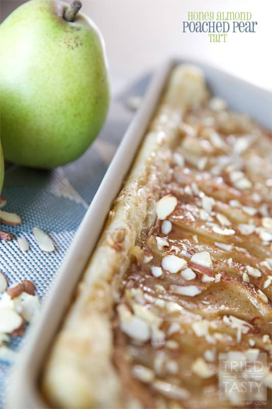 Honey Almond Poached Pear Tart // Tried and Tasty