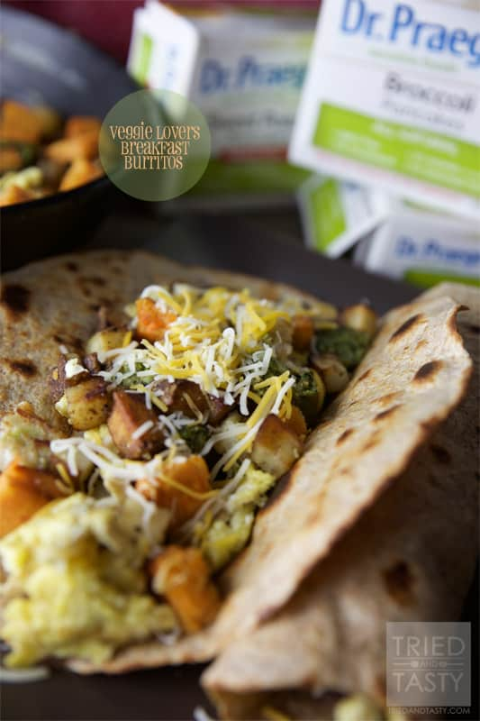 Veggie Lovers Breakfast Burritos // Tried and Tasty