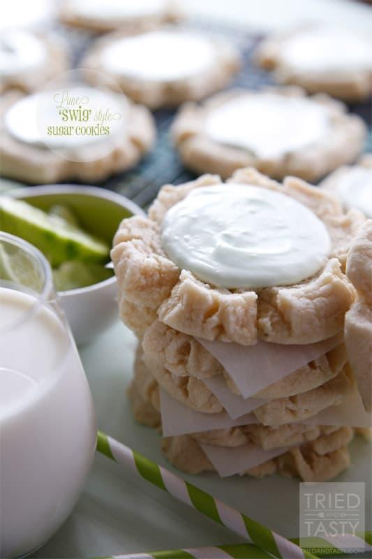 Lime 'Swig' Sugar Cookies // Tried and Tasty