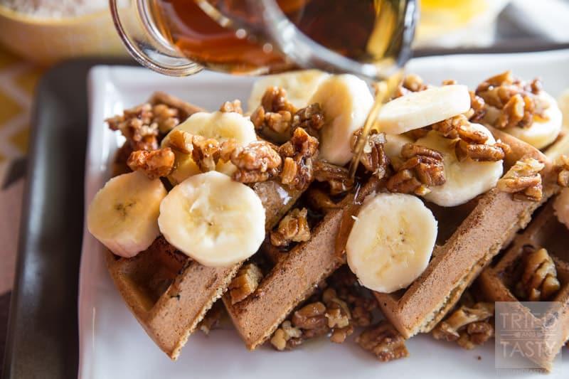 Gluten Free Banana Nut Waffles - Tried and Tasty