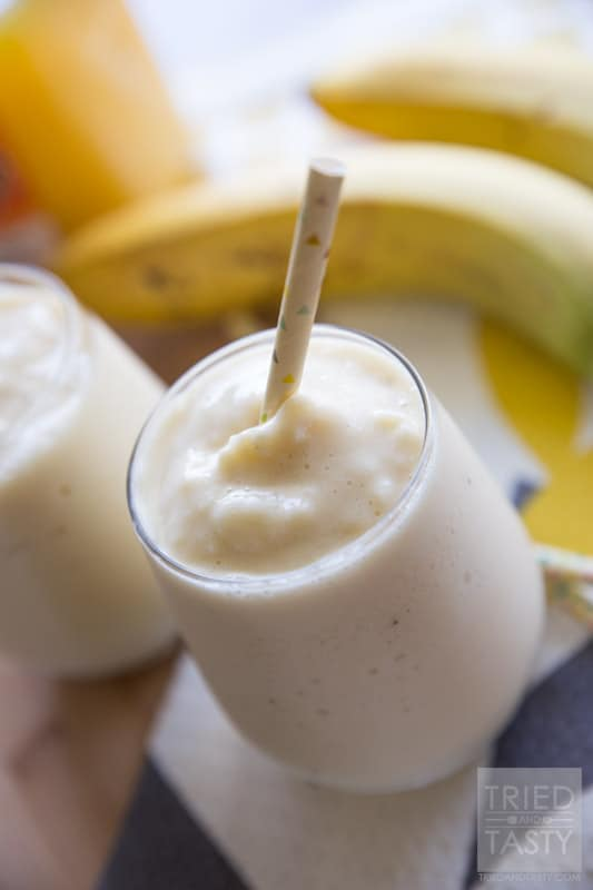 Orange And Banana Yogurt Smoothie Recipe — Dishmaps