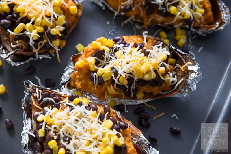 Southwestern Sweet Potato Skins // Looking for a delicious snack to ...