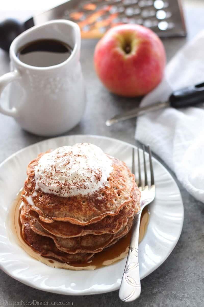 Apple Cinnamon Pancakes // Dessert Now Dinner Later