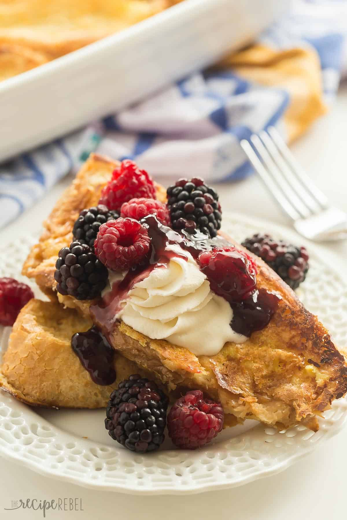Baked Overnight Lemon French Toast // The Recipe Rebel