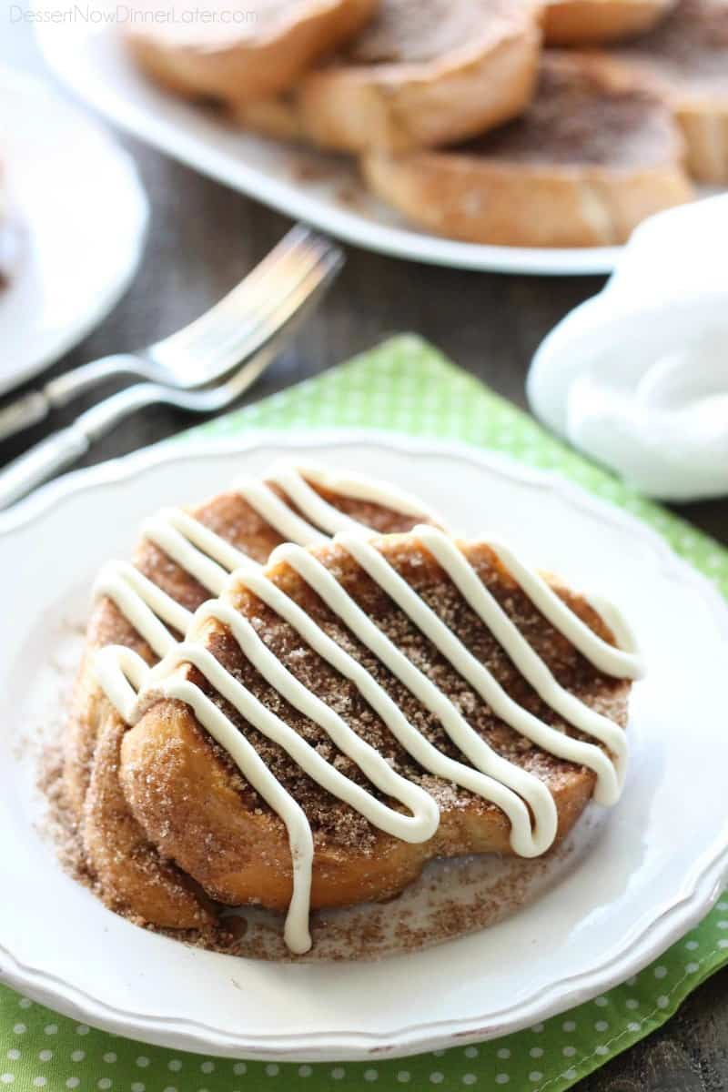 Churro French Toast // Dessert Now Dinner Later
