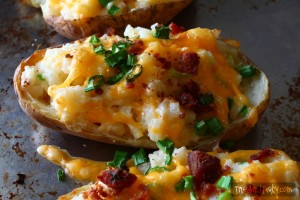 Spicy Potato Skins // Tried and Tasty