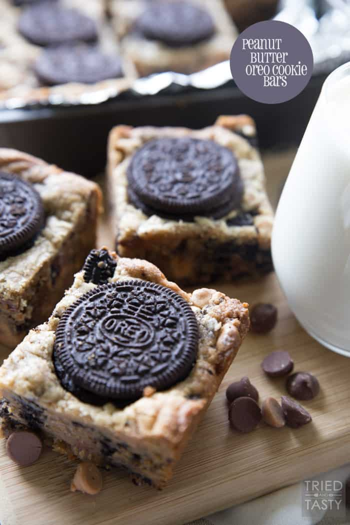 Peanut Butter Oreo Cookie Bars // Tried and Tasty