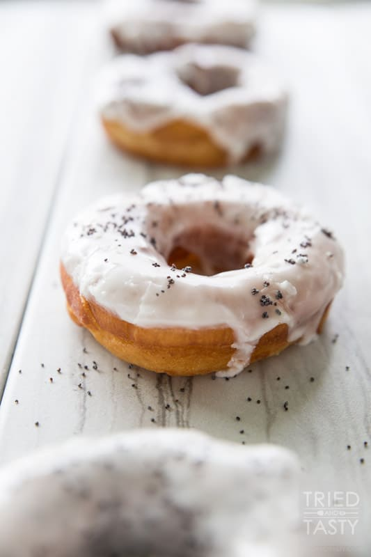 Copycat Blue Star Lemon Poppy Buttermilk Donuts // Tried and Tasty