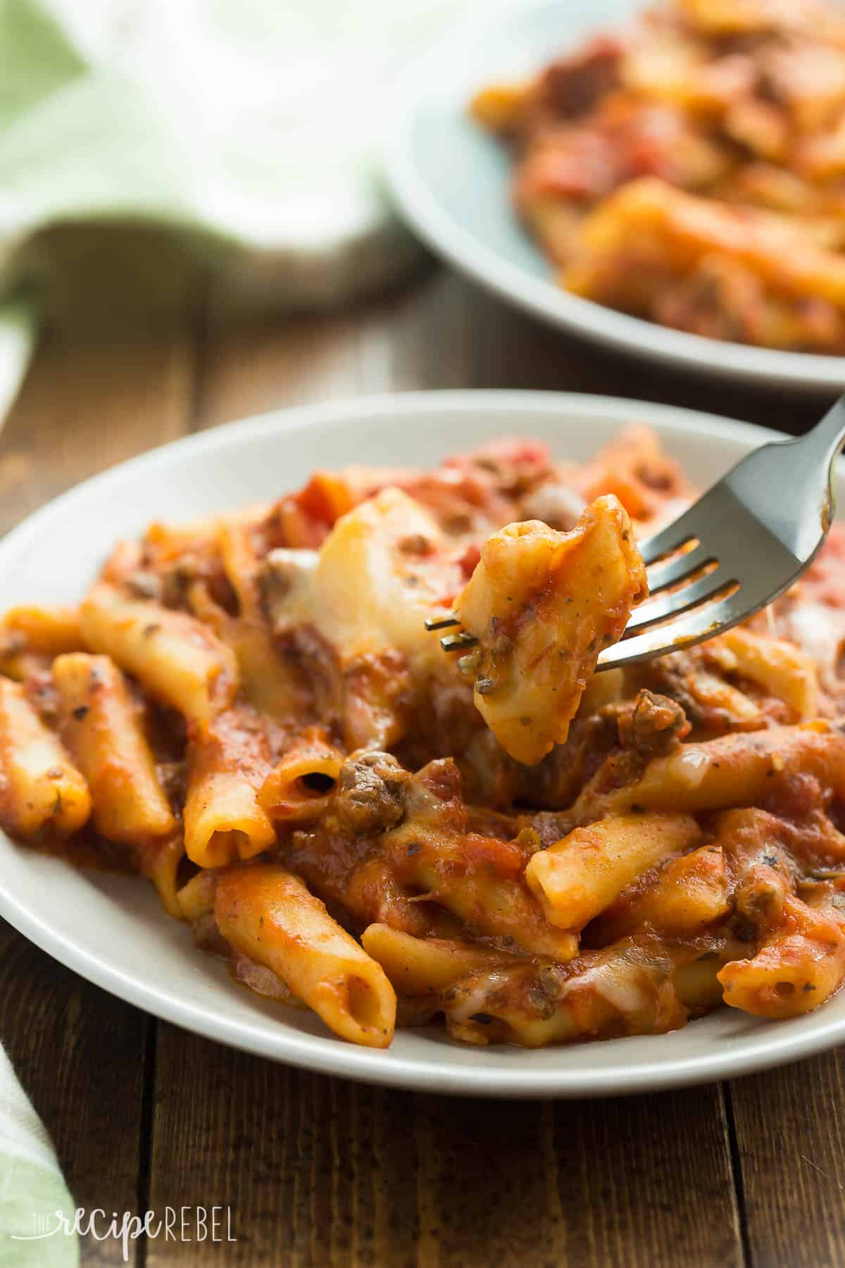 Slow Cooker Baked Ziti // The Recipe Rebel