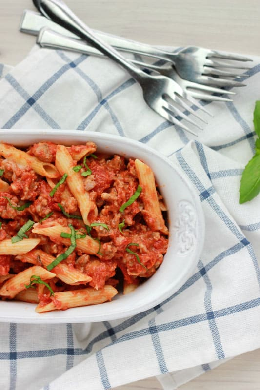 Tomato Basil Penne // One Sweet Appetite