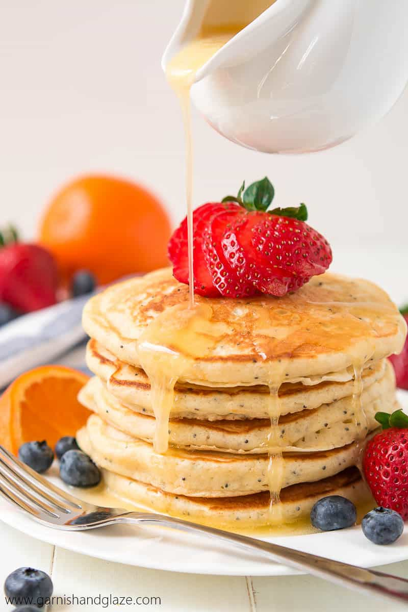 Orange Poppy Seed Pancakes // Tried and Tasty