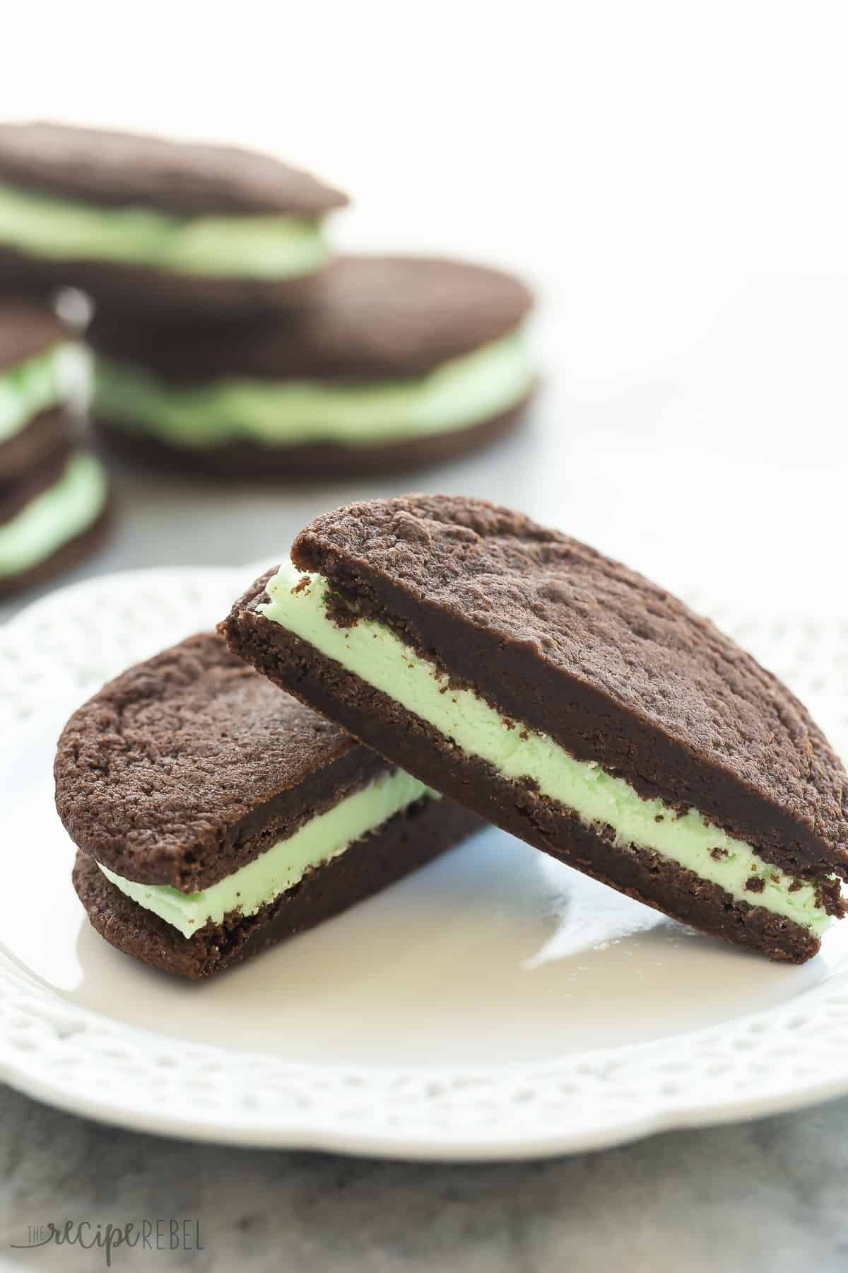 Mint Chocolate Chip Crinkle Cookies